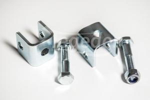 2 Stoßdämpferhalter Anhänger Rahmen zum Schrauben incl. Schrauben