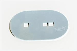 Gegenplatte für Zurrmulde, passend für ovale Zurrmulde in Größe 0 und Größe 1